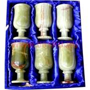 Набор из оникса 6 бокалов 12см (2,5х5) в бархатной коробочке