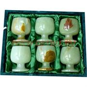 Набор из оникса 6 бокалов 7 см (2,5х3) в бархатной упаковке