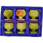Набор из оникса 6 бокалов 6 см (2,5х2,5) в бархатной упаковке