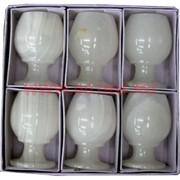 Набор из белого оникса 6 бокалов 7,5 см (2х3) в картонной упаковке