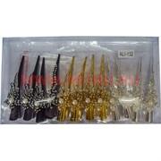 Зажим для волос (ALI-132) 3 цвета стразы (2 вида), цена за 12 шт