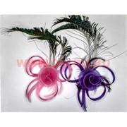 Зажим для волос (N-412) перья бант, цена за 24 шт