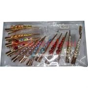 Зажим для волос (ALI-132) 6 цветов стразы жемчужины, цена за 12 шт