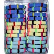 Резинка для волос (AL-134) разноцветная, цена за 10 упаковок