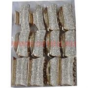 Краб для волос (ALI-55) со стразами цена за упаковку 12 шт в ассортименте