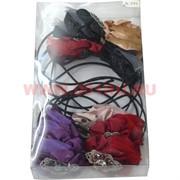 Ободок для волос с цветком (A-291) цена за упаковку 12 шт