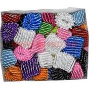 Резинки для волос (KG-26B) разновцветные цена за 1000 шт (10 уп)