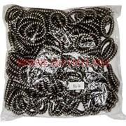 """Резинка для волос """"пружинка"""" серебро 5 см (NA-34) цена за 100 шт (силиконовая)"""