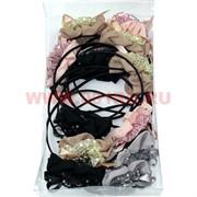 Ободок для волос с цветком (A-1405) цена за упаковку 12 шт