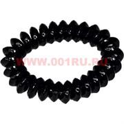 """Резинка для волос """"пружинка"""" черная 4 см, цена за 100 шт (силиконовая)"""