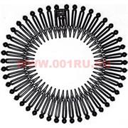 Заколка для пучка (AL-108) черная, цена за 12 шт