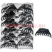 Заколка для волос (NA-N36) черная со стразами, цена за 12 шт