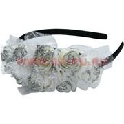 """Ободок для волос""""Розы"""" (426) одноцветные микс цветов цена за упаковку 12 шт"""