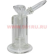 Бонг стеклянный прозрачный (D-020) 18 см высота