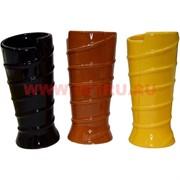Ваза керамика 15 см цена за пару, 5-6 цветов в ассортименте
