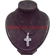 Крестик из натурального обсидиана подвеска