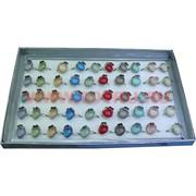 Кольца (M-1008) с камнем и цветочком цена за упаковку из 50шт