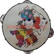 Бубен с буддийскими рисунками малый