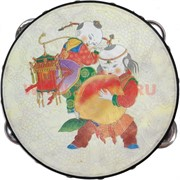 Бубен с буддийскими рисунками большой