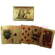 Карты золотые 100 долларов 54 карты