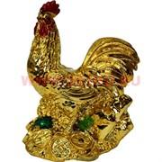 Символ 2017 года Петух под золото 10 см (NS-1003) полистоун