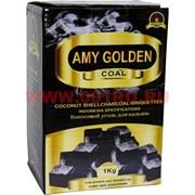 Уголь для кальяна Amy Golden 1 кг кокосовый 25 мм кубик