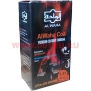 Уголь для кальяна AlWaha 1 кг кокосовый 96 шт 25 мм кубик