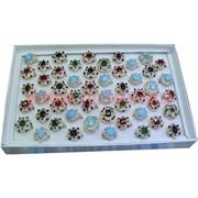 Кольца (M-222) самоцветы камни со стразами цена за упаковку из 50шт