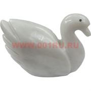 Лебедь из белого оникса 5 см (2 дюйма)