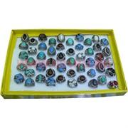Кольца (M-200) Самоцветы разной формы цена за упаковку из 50шт