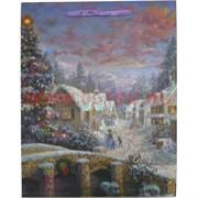 Пакет подарочный новогодний с блестками 18х23см, цена за 12 шт