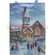 Пакет подарочный новогодний с блестками 26х32см (6231), цена за 20 шт