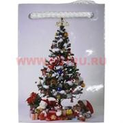Пакет подарочный новогодний 6х8 см, цена за 40 шт (рисунки в ассортименте)