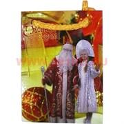 Пакет подарочный новогодний 8х11 см, цена за 20 шт (рисунки в ассортименте)