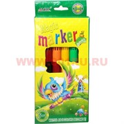 Фломастеры 2 цвета в 1 (6 шт) Magic Marker
