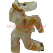 Конь на дыбах из оникса (2 дюйма) 5,5 см