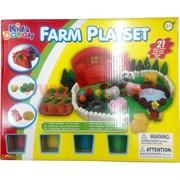 Игровой набор Farm Playset 21 деталь + 4 баночки с глиной