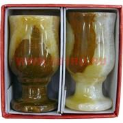 """Набор из оникса 2 бокала 7 см """"тюльпан"""" в картонной коробочке"""