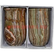 Набор из 2 стаканов 12 см (3х5) из оникса в картонной коробочке