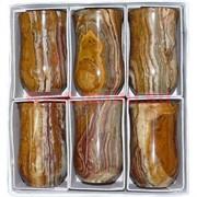 Набор из 6 стаканов 10 см (2,5х4) в картонной коробочке из оникса