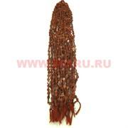 Нитка бусин коричневый авантюрин ромб цена за 1 нитку, натуральный камень