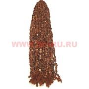 Нитка бусин коричневый авантюрин круг цена за 1 нитку, натуральный камень