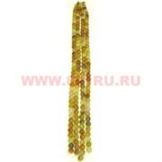 """Нитка бусин желтый агат """"таблетка"""", цена за 1 нитку, натуральный камень"""