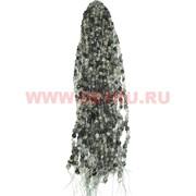"""Нитка бусин агат """"волосатик"""" цена за 1 нитку, натуральный камень"""