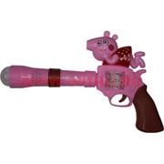 Игрушечный пистолет Свинка Пеппа со светом и звуком