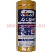 Изолента из ПВХ Юнибоб (клей каучук) желтая 19 мм 25 м, цена за 10 шт (Unibob)