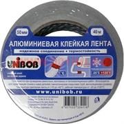 Алюминиевая клейкая лента Unibob (Юнибоб) 50 мм 40 м на основе акрила