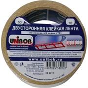 Двухсторонняя клейкая лента Unibob 50 мм 10 м на основе х/б с каучуком