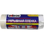 Укрывная пленка Unibob 2,6 м Х 17 м полиэтиленовая с малярной лентой для крепления к стене, 25 шт/к