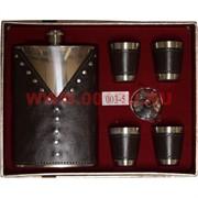 Набор с флягой 9 унций «жилетка» + 4 стаканчика (003-5)